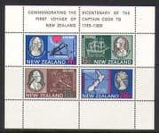New Zealand 1969 Cpt Cook  /  Ship  /  Map  /  200yrs 4v m  /  s n20671