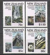New Zealand 1987 Parks  /  Waterfall  /  Plants 4v set (n24484)