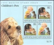 New Zealand 1993 Cats/ Dogs/ Pets/ Animals/ Nature/ Health Stamps 4v m/s (b3232)