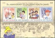 New Zealand 1994 Health Fund/ Paddington Bear/ Books/ Literature/ Stamp-on-Stamp/ S-on-S  4 v m/s (b6786)