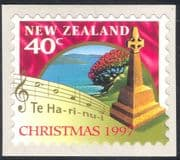 New Zealand 1997 Christmas/ Greetings/ Music/ Cross/ Flowers 1v s/a (n29663)