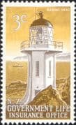 New Zealand - NZ  1969 Lighthouses  /  Maritime Safety  /  Buildings  /  Transport 1v (n24261)