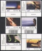 New Zealand (NZ) 2008 New Year  /  Greetings  /  Sunset  /  Carving  /  Art  /  Statue 6v set n35550
