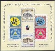 Nicaragua 1958 EXPO  /  Exhibition  /  Buildings  /  Architecture  /  Commerce 6v m  /  s (n37357)