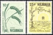 Nicaragua 1963 Freedom From Hunger/ FAO/ FHH/ Wheat/ Crops/ Tree/ Plants/ Nature 2v set (n43321)