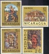 Nicaragua 1968 Pope Paul/ Papal Visit/ Religious Art/ Paintings/ Artists/ Popes/ People 4v set (n42461)
