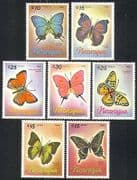 Nicaragua 1986 Butterflies  /  Insects  /  Nature 7v set b5316