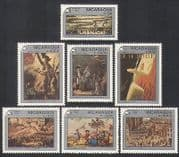 Nicaragua 1989 Art  /  Paintings  /  Liberty  /  StampEx  /  French Revolution 7v set (n36196)