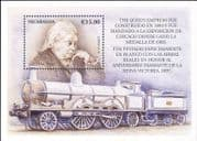 Nicaragua 1999 Queen Victoria/ Trains/ Railway/  Steam Engines/ Transport/ Royalty 1v m/s (s705p)
