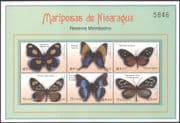 Nicaragua 2000 Butterflies/ Insects/ Nature/ Conservation 6v m/s (n42796)