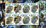 Niue 2002 WWF/ Giant Clams/ Marine Animals/ Nature/ Conservation/ Environment 8v m/s (s2592)