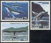 Norfolk Is 1995 Humpback Whales/ Marine/ Sealife/ Nature/ Wildlife/ Conservation/ Environment 3v set (n23284)