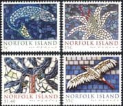 Norfolk Is 2009 Mosaics/ Bird/ Fish/ Flower/ Tree/ Ceramics/ Art 4v set (n22789)