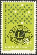 Norfolk Island 1967 Lions Club International/ Welfare/ Education/ Health/ Stars/ Emblem 1v (b210s)