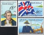 Norfolk Island 1978 Capt Cook/ Ships/ Boats/ Sailing/ Explorers/ Transport/ Flags 3v set (b210m)