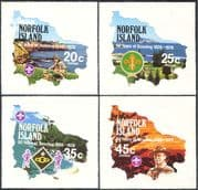 Norfolk Island 1978 Scouts/ Baden Powell/ Scouting/ Youth/ Leisure/ Views/ Maps 4v s/a set (n18050b)