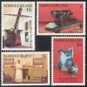 Norfolk Island 1991 Ship/ Cannon/ Ceramics/ Jug/ Museums/ Transport 4v set (n18039)