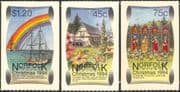 Norfolk Island 1994 Christmas/ Greetings/ Boat/ Rainbow/ House/ Sailing/ Transport/ Nature 3v s/a set (n18041)