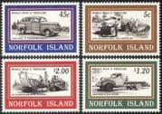 Norfolk Island 1995 WWII/ Car/ Lorries/ Motors/ Motoring/ Transport/ Caterpillar Bulldozer 4v set (s4174)