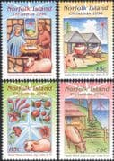 Norfolk Island 1996 Christmas/ Nativity/ Greetings/ Boats/ Cattle/ Tree/ Oxen 4v set (n18045)