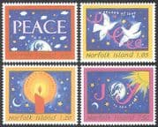 Norfolk Island 1998 Christmas  /  Greetings  /  Doves  /  Candle  /  Birds  /  Animation 4v (n40476)