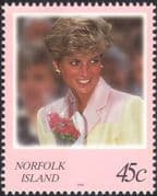 Norfolk Island 1998 Diana, Princess of Wales/ Royalty/ Royal/ People 1v (b210n)