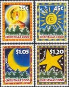 Norfolk Island 2000 Christmas/ Greetings/ Candle/ Sun/ Moon/ Star/ Trees/ Carol 4v set (b210d)