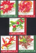 Norfolk Island 2001 Christmas/ Greetings/ Flowers/ Plants/ Carols/ Music 5v set (n21051)