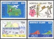 Norfolk Island 2001 Millennium/ Children's Art/ Drawing/ Paintings/ Trees/ Birds 4v set (b210h)