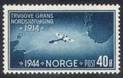 Norway 1944 Plane/ Aircraft/ Aviation/ Transport/ Map/ Bleriot XI / History 1v (n23453)