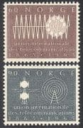 Norway 1965 ITU-UIT  /  Radio  /  Telecomms  /  TV 2v set (n27180)