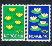 Norway 1977 Flowers  /  Nature  /  Conservation  /  Environment  /  Animation 2v set (n33964)