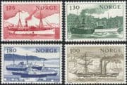 Norway 1977 Ships/ Boats/ Nautical/ Sailing/ Paddle-Steamers/ Ferry/ Ferries/ Transport 4v set (n44873)
