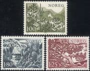 Norway 1977 Spruce/ Birch/ Pine/ Fir/ Conifers/ Trees/ Plants/ Nature 3v set (n44870)