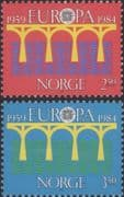 Norway 1984  Europa/ CEPT 25th Anniversary/ Bridge/ Communication/ Architecture  2v set (n46398)