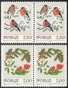 Norway 1985 Christmas/ Greetings/ Bullfinch/ Wreath/ Birds/ Seasonal/ Nature 2v set bklt prs (n43087)