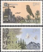 Norway 1986 Europa/ Environment/ Birds/ Butterflies/ Forest/  Industry 2v set (ex1069)