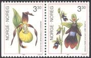 Norway 1992 Lady's-slipper/ Fly Orchid/ Flowers/ Orchids/ Plants/ Nature/ Conservation/ Environment 2v bklt pr (n43098)