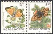 Norway 1994 Butterflies/ Insects/ Nature/ Conservation/ Butterfly 2v bklt pr (n43093)