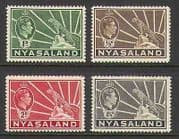 Nyasaland 1934 Cat  /  Leopard  /  Animals 4v low defins n19778