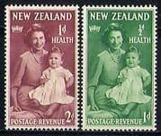 NZ 1950 HM QEII  /  Prince Charles  /  Royalty 2v set (n31089)