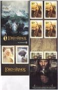 NZ 2003 Lord of the Rings/ Film/ Cinema/ Hobbits/ Gandalf/ Gollum 10v s/a bklt s5675