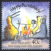NZ  /  New Zealand 1988 Australia Bicentenary  /  Kiwi  /  Koala  /  Fire  /  Birds 1v (n40394)