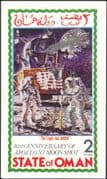 Oman 1998  John Glenn/ Space Flight/ Apollo 11/ Moon Landing   imperf m/s silver o/p (b4629)