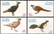 Pakistan 1979 Birds/ Pheasants/ Wildlife Protection/ Nature/ Conservation 4v set (b139)