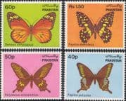 Pakistan 1983  Butterflies/ Insects/ Nature/ Wildlife 4v set (n18594)