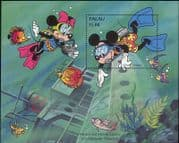 Palau 1994 Disney/ Mickey Mouse/ Deep Sea Diving/ Shipwreck/ Cartoons/ Animation 1v m/s (b6070c)