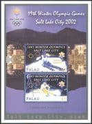 Palau 2002 Winter Olympic Games/ Olympics/ Sports/Super-G Skiing 2v m/s (n41337)