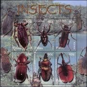 Palau 2003 Insects/ Beetles/ Nature/ Bugs/ Wildlife/ Conservation 6v m/s (s4834)
