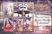Palau 2006 First Flight Space Shuttle Columbia 25th Anniversary/ Rockets/ Transport/ Astronauts/ People 6v m/s (n16827)
